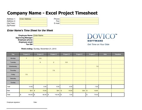 employees timesheet template free employee timesheet template excel chainimage