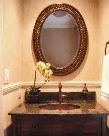 Rustic Bathroom Vanities For Vessel Sinks - brilliant powder room sink vanities using oval undermount basin with brown granite countertop