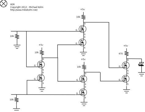 xor gate transistor xor schematic with led xor get free image about wiring diagram