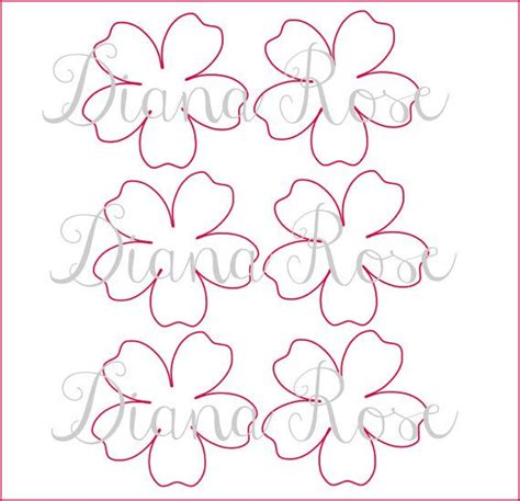 paper flower pattern pdf 17 best images about flower templates on pinterest paper