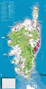 Informations Carte de la Corse