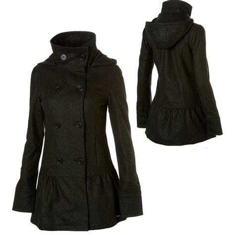 Hooded Coat hooded pea coat womens sm coats