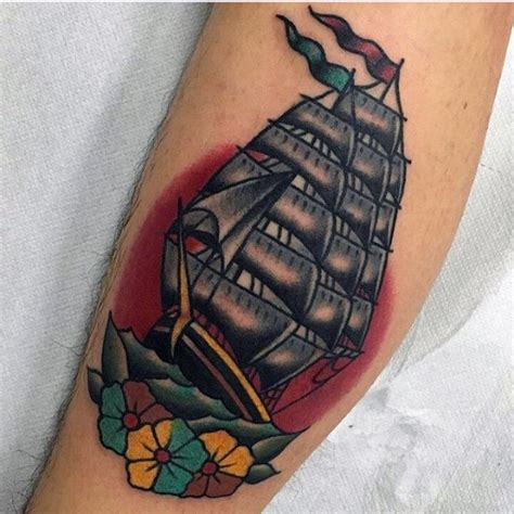 sailing ship tattoos designs 60 traditional ship designs for nautical ink