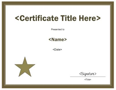 blank award certificate templates joy studio design