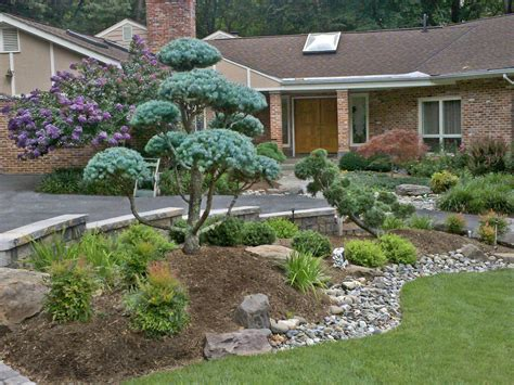Garden Entrance Ideas Front Entrance Landscape Design And Hardscape By S Landscape Japanese Garden