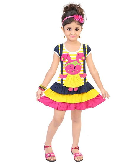 half froks pic justkids pink cotton half frock for girls buy online rs