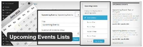 Promoter Upcomin Events Listing cool list of upcoming events plugins for webdesignerdrops