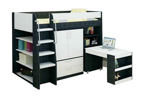 bunk beds with storage and desk vectra bunk bed with desk storage bambino home