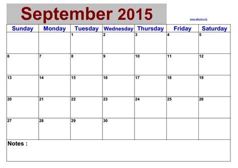 Blank Calendars For 2015 Blank Calendar September 2015 2016 Blank Calendar