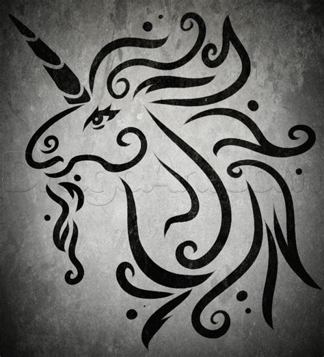 easy unicorn tattoo how to draw tribal unicorn step by step tribal art pop