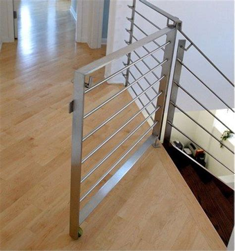 dog stair gates for the house modern stair rails and dog gate for the home pinterest