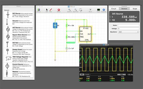 macos simple electronics circuit simulation software for