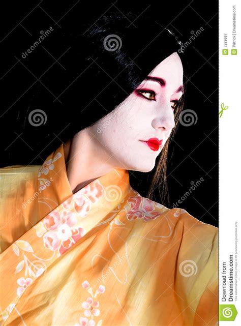 Eyeliner Kimono geisha in kimono stock image image of modest