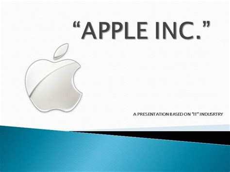 Apple Inc Powerpoint Apple Inc Authorstream