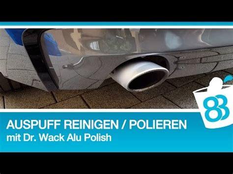 Chrom Alu Polieren by Edelstahl Und Chrom Auspuff Reinigen Und Polieren Mit Dr