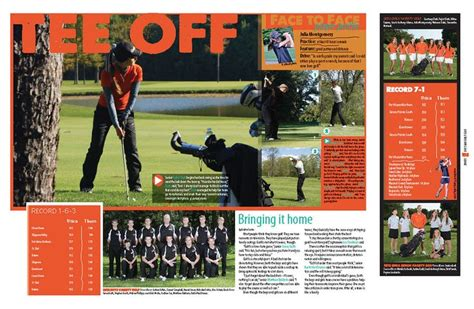yearbook golf layout 122 best images about yearbook on pinterest high school