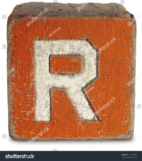 r in block letters photograph of wooden block letter r stock photo 121043008