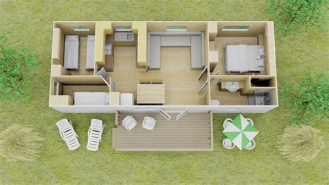 Twin Bed Plans Fully Equipped 3 Bed Espace Mobile Homes Eurocamp Co Uk