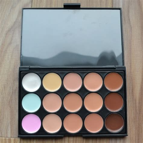 Professional Cosmetic Tablet Makeup Palette Terbaru 1 harga spesifikasi 15 colors contour makeup concealer palette powder brush terbaru