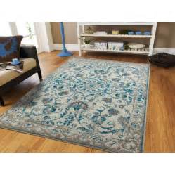 blue area rug 5x8 traditional vintage area rug distressed rugs blue area