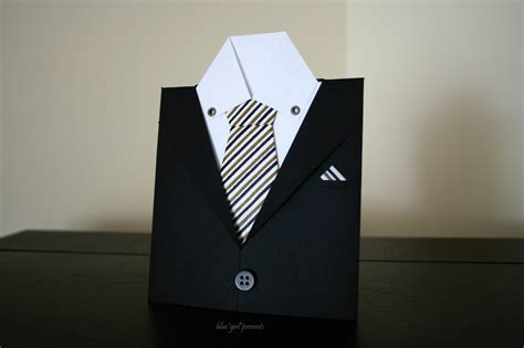 how to make shirt and tie card blue presents blue presents