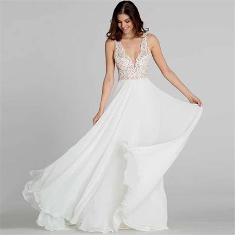 Wedding Dresses V Neck by Turmec 187 V Neck Wedding Dresses