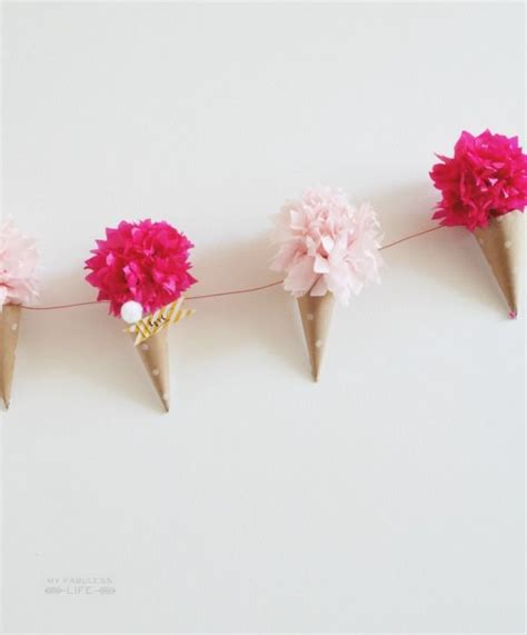 How To Make Tissue Paper Flower Garland - 25 best ideas about paper flower garlands on