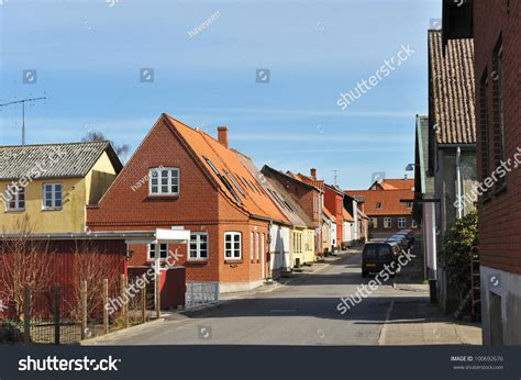 Search For In Denmark Scandinavian Houses In Small Town In Denmark Stock Photo 100692676