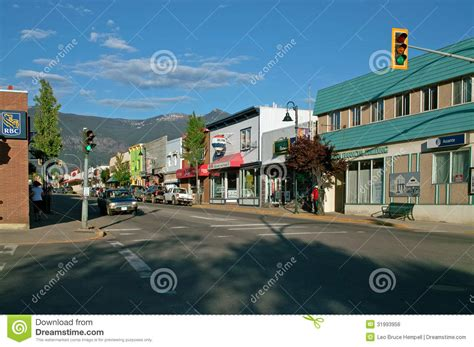 pictures of downtown bc downtown creston bc canada editorial photo image of