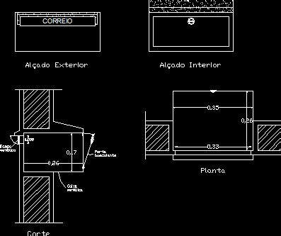 box auto dwg mail box dwg section for autocad designs cad