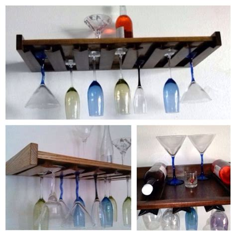 Wine Glass Wall Shelf by Wine Glass Rack Floating Wall Mount Bar Shelf Holder