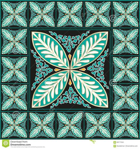 mosaic home decor floral traditional mosaic home decor stock vector image