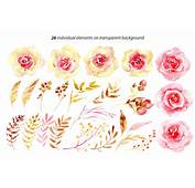 Watercolor Flowers Yellow &amp Pink Png By WatercolorFlowers