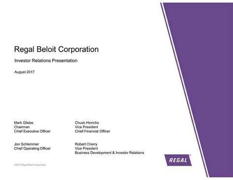 regal beloit regal beloit rbc presents at jefferies 13th annual