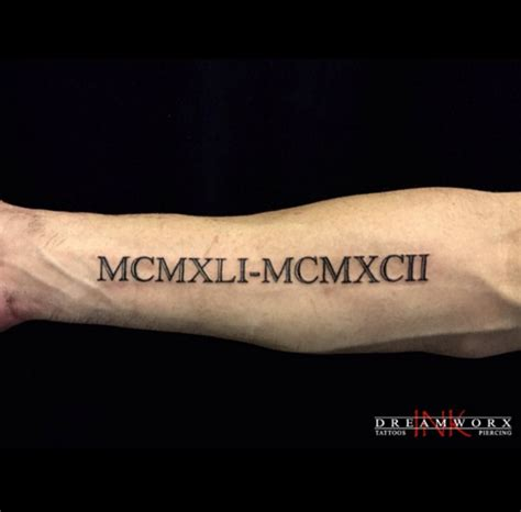roman numeral forearm tattoo 36 exquisite numeral designs tattooblend