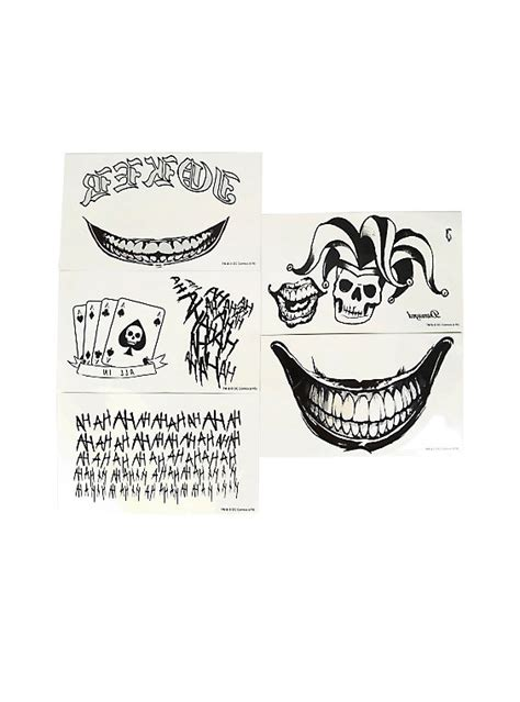 dc comics squad joker full body temporary tattoos
