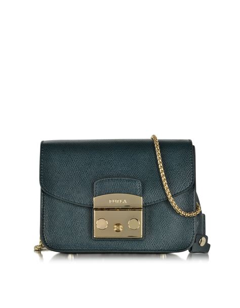 Furla Original Metropolis Navy Furla Metropolis Navy furla metropolis navy leather shoulder bag in blue lyst
