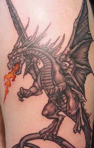 dragon with fire tattoo designs tattoos page 4