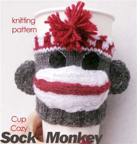 knitting patterns to buy and sock monkey coffee cup sleeve pattern