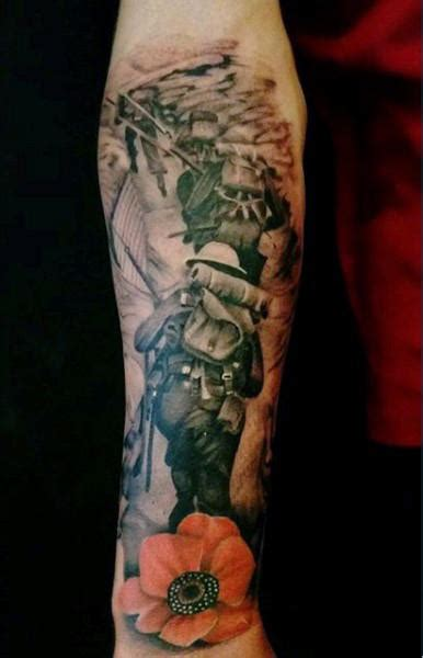 military tattoo designs for men 100 tattoos for memorial war solider designs
