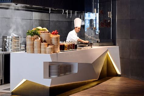 buffet design drawlink uses art and sculpture to create intercontinental