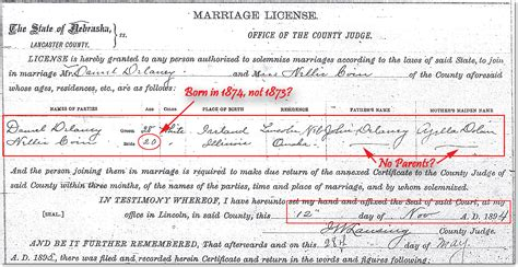 Nebraska Marriage Records Finding Nellie Part 2 Married With Mysteries My
