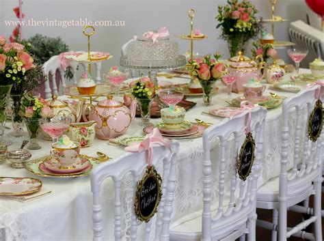 the vintage table vintage china hire events media