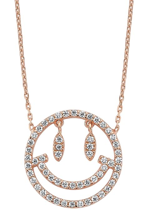 Say It With A Smiley With Emoticon Jewellery by Amorium Gold Vermeil Smiley Necklace