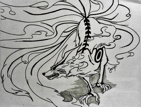 kurama tattoo top nine tailed beast drawings images for tattoos