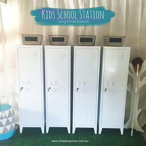 10 ideas to use lockers as kids room storage kidsomania kids school station using the kmart lockers oh so busy mum