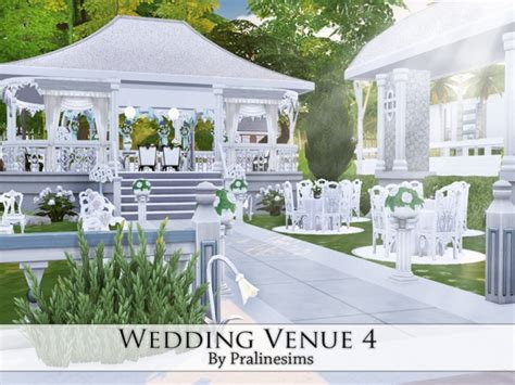 Wedding Arch Sims 4 Cc by Wedding Venue 3 By Pralinesims At Tsr Sims 4 Updates