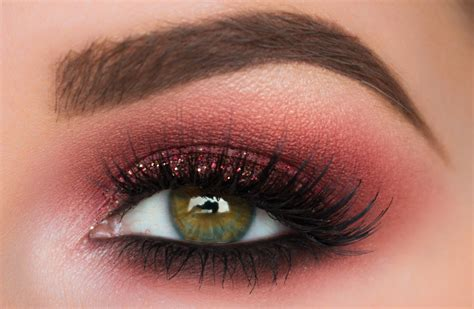 Eyeshadow Smokey burgundy smokey eye makeup tutorial makeup