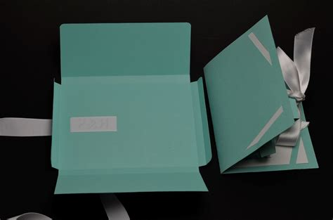 Tiffany Gift Cards - gift box pop up card template