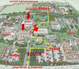 Sonoma State University Map by Location Ssu Testing Center